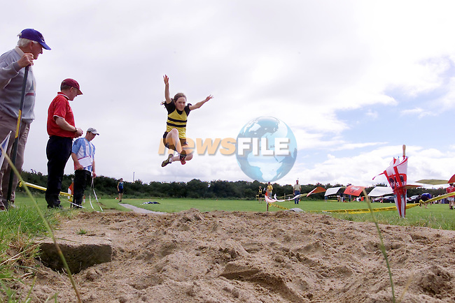 Karen McParland Mt Plesant taking part int he Long jump at the Boyne AC meeting sponsored by Drogheda Concentrates...Picture Fran Caffrey Newsfile...This Picture is sent to you by:..Newsfile Ltd.The View, Millmount Abbey, Drogheda, Co Louth, Ireland..Tel: +353419871240.Fax: +353419871260.GSM: +353862500958.ISDN: +353419871010.email: pictures@newsfile.ie.www.newsfile.ie