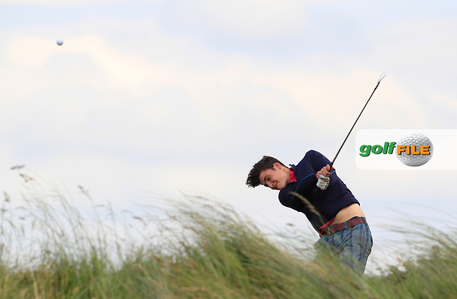 Anton Brennan (Athenry) on the 8th tee during Round 1 of the Ulster Boys Championship at Castlerock Golf Club on Tuesday 30th June 2015.<br /> Picture:  Golffile | Thos Caffrey