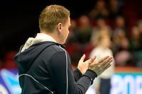GRONINGEN - Volleybal, Lycurgus - Amriswil, CEV Cup, Martiniplaza , seizoen 2018-2019, 04-12-2018, Lycurgus coach Arjan Taaij