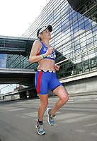 01 JUL 2007 - COPENHAGEN, DEN - Sophie Whitworth - winner of the Womens 35-39 age group - European Age Group Triathlon Championships. (PHOTO (C) NIGEL FARROW)