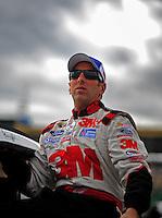 Oct. 2, 2009; Kansas City, KS, USA; Nascar Sprint Cup Series driver Greg Biffle during qualifying for the Price Chopper 400 at Kansas Speedway. Mandatory Credit: Mark J. Rebilas-