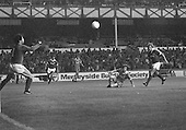 26/08/1980 Everton v Blackpool League Cup 2nd Round 1st Leg .Colin Morris shot gathered by Jim McDonagh....© Phill Heywood.