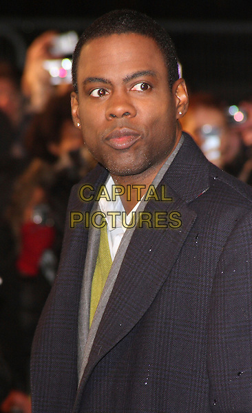 "CHRIS ROCK .""Madagascar; Escape 2 Africa"" - UK Premiere - Outside Arrivals at Empire Leicester Square, London, England, November 23rd 2008..portrait headshot coat white green shirt grey gray .CAP/ROS.©Steve Ross/Capital Pictures"