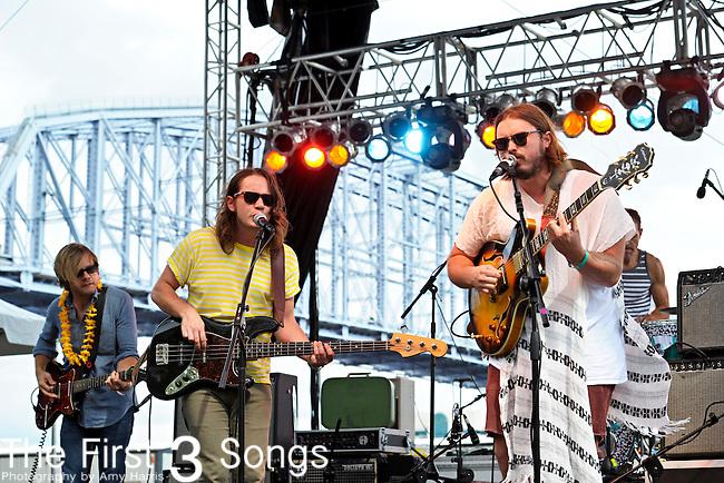 Ponderosa performs at the Bunbury Music Festival in Cincinnati, Ohio.