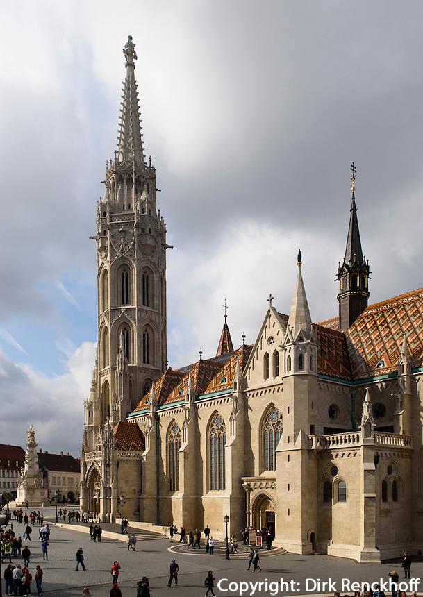 Matthiaskirche, Mátyás templon auf dem Burgberg in Buda, Budapest, Ungarn, UNESCO-Weltkulturerbe
