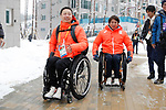 (L-R) Kenji Natsume, Taiki Morii (JPN), MARCH 8, 2018 - : IPC released the Paralympic Village to the media at Paralympic Village during the PyeongChang 2018 Paralympics Winter Games in Pyeongchang, South Korea. (Photo by Yusuke Nakanishi/AFLO SPORT)