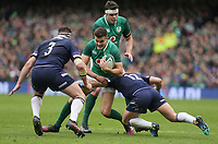 Saturday 10th March 2018 |  Ireland vs Scotland<br /> <br /> Jacob Stockdale is tackled by Pete Horne during the NatWest 6 Nations clash between Ireland and Scotland at the Aviva Stadium, Lansdowne Road, Dublin, Ireland. Photo by John Dickson / DICKSONDIGITAL