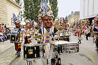 Switzerland. Canton of Neuchâtel. Neuchâtel. Grape Harvest Festival. The flower parade (corso) with its creative vehicles and musical bands. © 2006 Didier Ruef