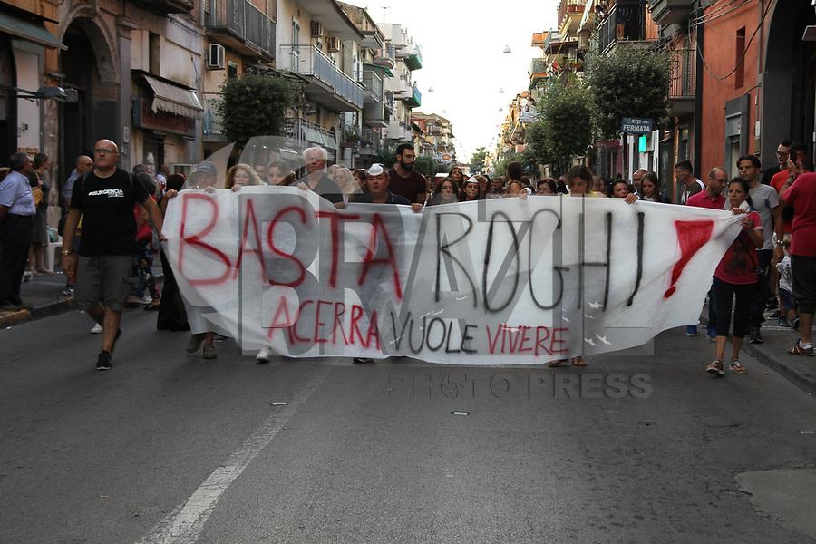 ACERRA, ITALIA, 07.09.2019 - PROTESTO-ITALIA - Manifestantes durante protestos contra fogueiras tóxicas na cidade de Acerra, região metropolitana de Napoles na Itália. (Foto: Salvatore Esposito / Brazil Photo Press)