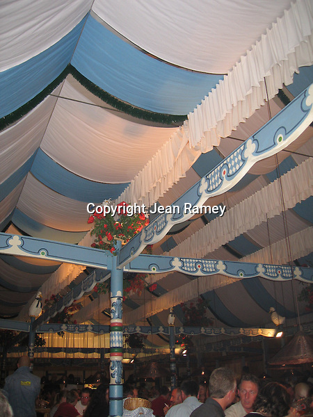 Beer Hall at Oktoberfest - Munich, Germany