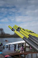 Hammersmith. London. United Kingdom,  Hammersmith. London.  General View, &quot;Oar Handles&quot;, Furnivall SC, 2018 Men's Head of the River Race.  Championship Course, River Thames, 2018 Men's Head of the River Race. , Championship Course, Putney to Mortlake. River Thames, <br /> <br /> Sunday   11/03/2018<br /> <br /> [Mandatory Credit:Peter SPURRIER Intersport Images]<br /> <br /> LEICA CAMERA AG  LEICA Q (Typ 116)  1/16000 sec. 28 mm f.1.7 200 ISO.  41.9MB