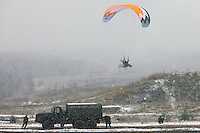 Krasnoarmeysk, Moscow Region, Russia, 29/10/2010..Russian special forces training at a military base outside Moscow. The exercise was part of the Interpolitex 2010 state security exhibition.