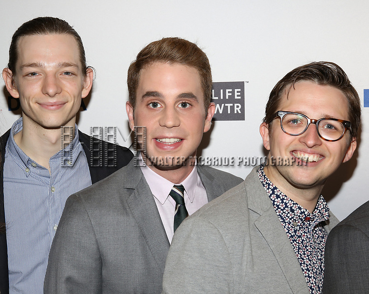 Mike Faist, Ben Platt and Will Roland attends the 83rd Annual Drama League Awards Ceremony  at Marriott Marquis Times Square on May 19, 2017 in New York City.
