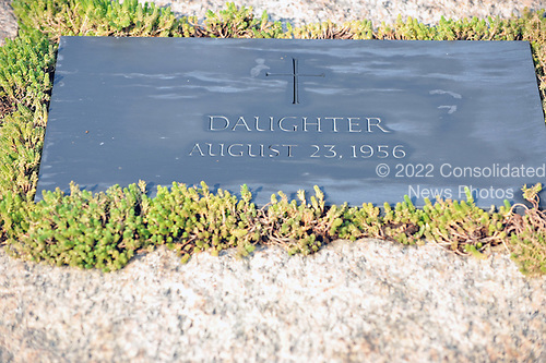 Arlington, VA - August 27, 2009 -- Marker for the grave of the unnamed daughter of United States President John F. Kennedy and first lady Jacqueline Bouvier Kennedy at the Kennedy Gravesite at Arlington National Cemetery in Arlington, Virginia on Thursday, August 27, 2009..Credit: Ron Sachs / CNP.(RESTRICTION: NO New York or New Jersey Newspapers or newspapers within a 75 mile radius of New York City)
