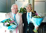 ROTTERDAM - Louis Coster en Irving van Nes zijn benoemd tot erelid. Algemene Leden Vergadering van de KNHB (Koninklijke Nederlandse Hockey Bond). FOTO KOEN SUYK