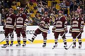 Andrew Orpik (BC - 27), Nick Petrecki (BC - 26), Matt Price (BC - 25), Matt Lombardi (BC - 24), Dan Bertram (BC - 22) - The Boston College Eagles defeated the University of Vermont Catamounts 4-0 in the Hockey East championship game on Saturday, March 22, 2008, at TD BankNorth Garden in Boston, Massachusetts.