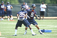 Virginia running back Torrey Mack (25) and Virginia running back Mikell Simpson during open spring practice for the Virginia Cavaliers football team August 7, 2009 at the University of Virginia in Charlottesville, VA. Photo/Andrew Shurtleff