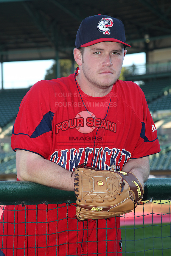 Pawtucket Red Sox pitcher Alex Wilson #30 poses for a photo before a game against the Rochester Red Wings at Frontier Field on August 30, 2011 in Rochester, New York.  Rochester defeated Pawtucket 8-6.  (Mike Janes/Four Seam Images)