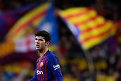 2nd February 2019, Camp Nou, Barcelona, Spain; La Liga football, Barcelona versus Valencia; Carles Alena of FC Barcelona follows the action