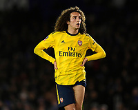 Matteo Guendouzi of Arsenal sports odd length shorts during Portsmouth vs Arsenal, Emirates FA Cup Football at Fratton Park on 2nd March 2020