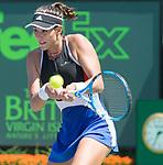 March 26 2018: Garbine Muguruza (ESP) loses to Sloane Stephens (USA) 3-6, 4-6, at the Miami Open being played at Crandon Park Tennis Center in Miami, Key Biscayne, Florida. ©Karla Kinne/Tennisclix/CSM