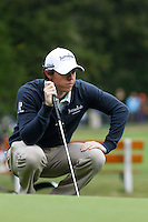 Rory McIlroy (NIR) on the 1st during the final day of the Omega European Masters, Crans-Sur-Sierre, Crans Montana, Switzerland.4/9/11.Picture: Golffile/Fran Caffrey..