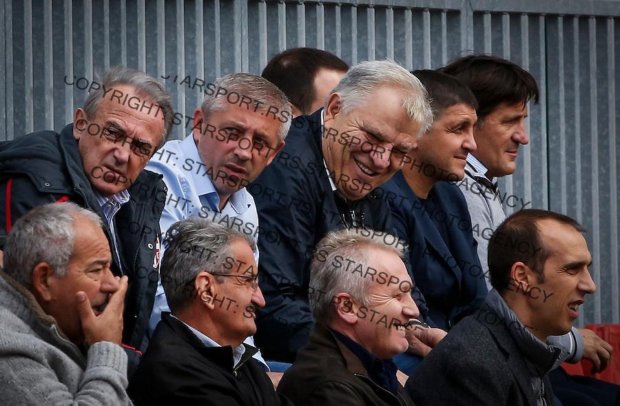 Fudbal Soccer<br /> International Friendly-Prijateljski mec<br /> Srbija U17 v Belorusiaj U17<br /> Slavisa Kokeza (C) Tomislav Karadzic (R)<br /> Stara Pazova, 20.09.2016<br /> foto: Srdjan Stevanovic/Starsportphoto &copy;