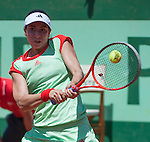 Christina McHale (USA) loses  at Roland Garros in Paris, France on June 2, 2012