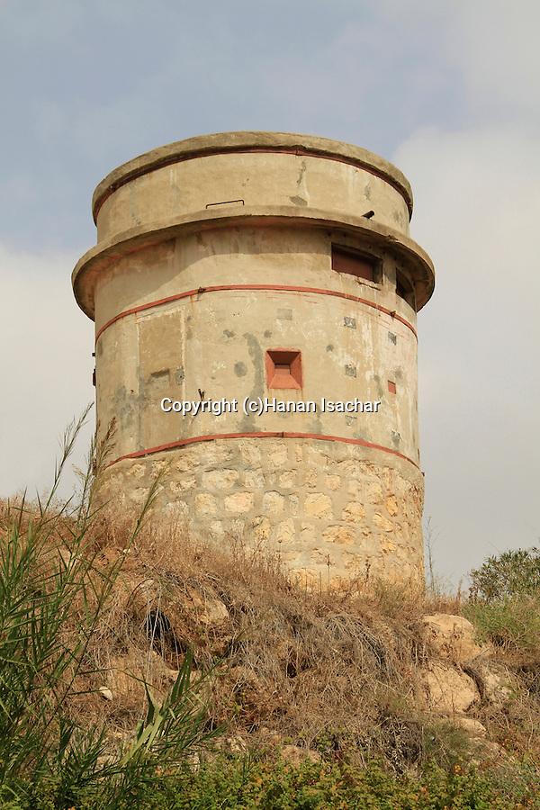 Israel, Southern Coastal Plain, British pillbox position in Ad Halom park, Ashdod