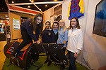Skills Active Cymru<br /> Carol Bramhill from Careers in Racing with students Josephine Pitts, Jagmeet Babbar, Chloe Lewis, &amp; Julia Johnson from Dylan Thomas Community School.<br /> Cardiff International Arena<br /> 23.10.14<br /> &copy;Steve Pope-FOTOWALES