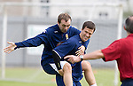 James McFadden and Gary Caldwell at Scotland training