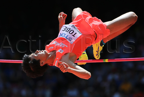 28.08.2015. Birds Nest Stadium, Beijing, China.  Japan's Naoto Tobe competes at the High Jump Qualification at the 15th International Association of Athletics Federations (IAAF) Athletics World Championships in Beijing, China, 28 August 2015.