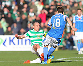 4th November 2017, McDiarmid Park, Perth, Scotland; Scottish Premiership football, St Johnstone versus Celtic; Scott Brown slides in on Paul Paton