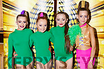 Abbie Mulivhill (Causeway), Abbie Sheehan (Abbeydorney), Niamh Barrett (Causeway) and Bey Gilfoyle (Ballyroe) competing in the Hip Hop dancing finals in the Brandon Hotel on Saturday last.