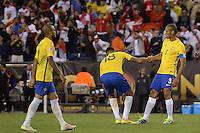Action photo during the match Brasil vs Peru at Gillette Stadium Copa America Centenario 2016. ---Foto  de accion durante el partido Brasil vs Peru , En el Estadio Gillette Partido Correspondiante al Grupo - B -  de la Copa America Centenario USA 2016, en la foto: Miranda<br /> -- 12/06/2016/MEXSPORT/Adrian Macias.