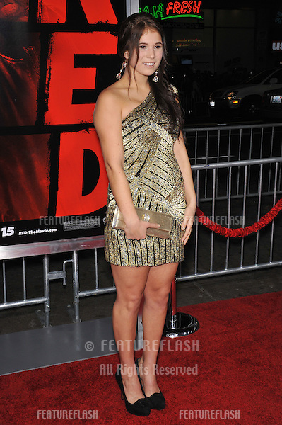 """Katelyn Pippy at the premiere of """"Red"""" at Grauman's Chinese Theatre, Hollywood..October 11, 2010  Los Angeles, CA.Picture: Paul Smith / Featureflash"""