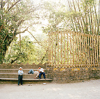 Outside the Edward James Surrealist Gardens at Las Pozas, Xilitla, Mexico