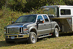 Ford pickup and horse trailer in Crescent City California