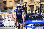 Deceuninck-Quick Step including James Knox (GBR) recon Stage 1 of La Vuelta 2019, a team time trial running 13.4km from Salinas de Torrevieja to Torrevieja, Spain. 24th August 2019.<br /> Picture: Eoin Clarke | Cyclefile<br /> <br /> All photos usage must carry mandatory copyright credit (© Cyclefile | Eoin Clarke)