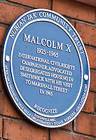 Malcom X, Marshall Street, Smethwick, Blue Plaque