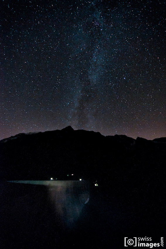 Mauvoisin Dam under the Milky Way
