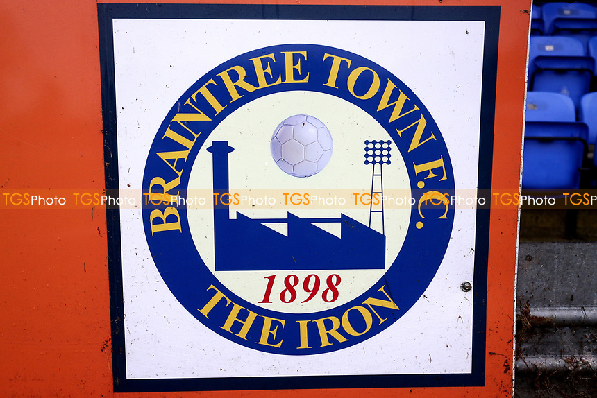 Braintree Town Fc signage during Braintree Town vs Barrow, Vanarama National League Football at the IronmongeryDirect Stadium on 1st December 2018