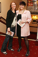 26/8/2010. NO REPRO FEE. Little Gem Opening night.  Linda Forde and Shirly Chance are pictured at the Olympia Theatre Dublin for the opening night of Little Gem. Hilda Fay makes her return as Lorraine, Anita Reeves continues in the role of Kay, and Genevieve Hulme-Beaman takes on the role of Amber. After sell-out seasons in New York, London and Paris and a sold-out 7-week run at Ireland's National Theatre, Gúna Nua is bringing its bittersweet comedy Little Gem back to Dublin for 10 shows only at The Olympia Theatre from August 26 to September 4, 2010. Love, sex, birth, death, dildos and salsa classes: Elaine Murphy's award winning Little Gem sees three generations of Dublin women on a wild and constantly surprising journey. Picture James Horan/Collins Photos