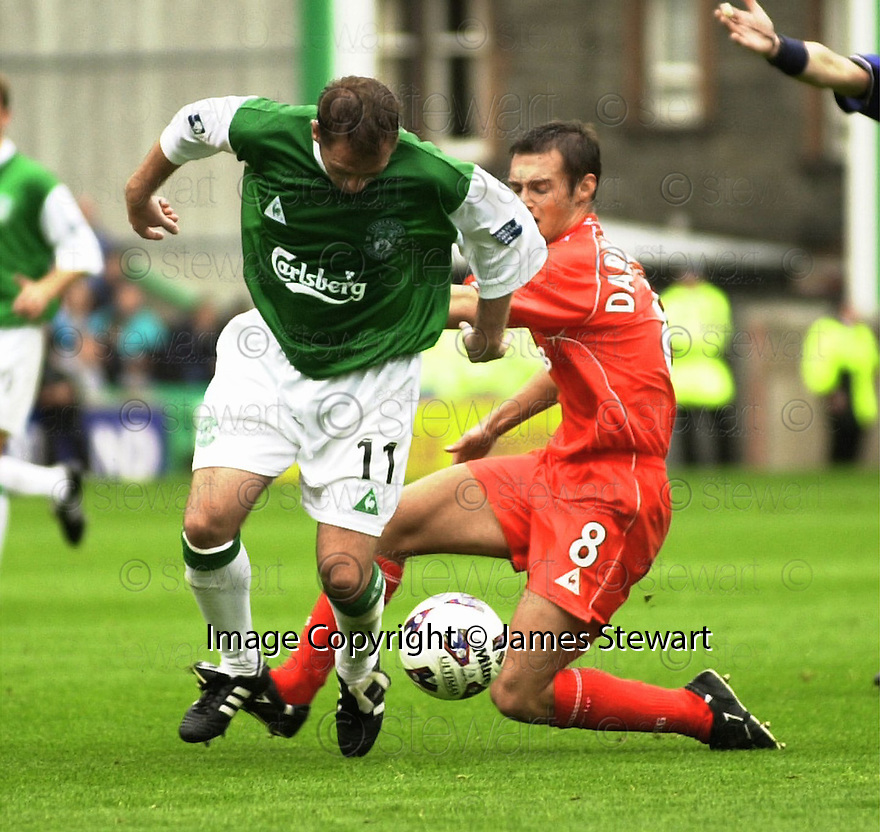 12/08/2001          Copyright Pic : James Stewart .Ref : DSC_4873                          .File Name : stewart09-hibs v aberdeen.JOHN O'NEILL AND DARREN YOUNG......James Stewart Photo Agency, Stewart House, Stewart Road, Falkirk. FK2 7AS      Vat Reg No. 607 6932 25.Office : +44 (0)1324 630007     Mobile : + 44 (0)7721 416997.Fax     :  +44 (0)1324 630007.E-mail : jim@jspa.co.uk.If you require further information then contact Jim Stewart on any of the numbers above.........