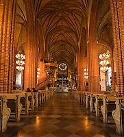 Interior of Storkyrkan, Stockholm, Sweden