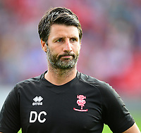 Lincoln City manager Danny Cowley<br /> <br /> Photographer Chris Vaughan/CameraSport<br /> <br /> Football Pre-Season Friendly - Lincoln City v Sheffield Wednesday - Friday 13th July 2018 - Sincil Bank - Lincoln<br /> <br /> World Copyright &copy; 2018 CameraSport. All rights reserved. 43 Linden Ave. Countesthorpe. Leicester. England. LE8 5PG - Tel: +44 (0) 116 277 4147 - admin@camerasport.com - www.camerasport.com