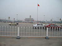 Tiananmen Square covered with heavy pollution, Beijing