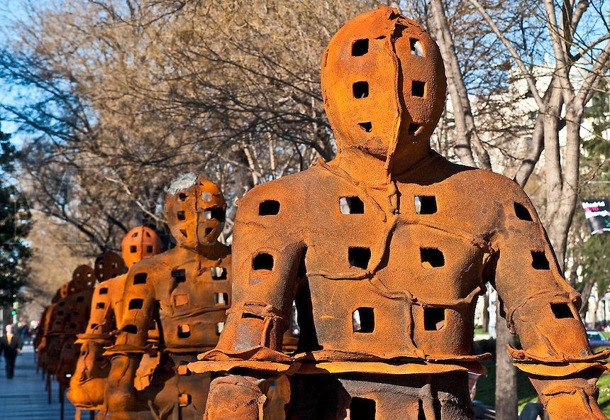 Outdoor sculpture exhibit of Xavier Mascaró, Madrid, Spain