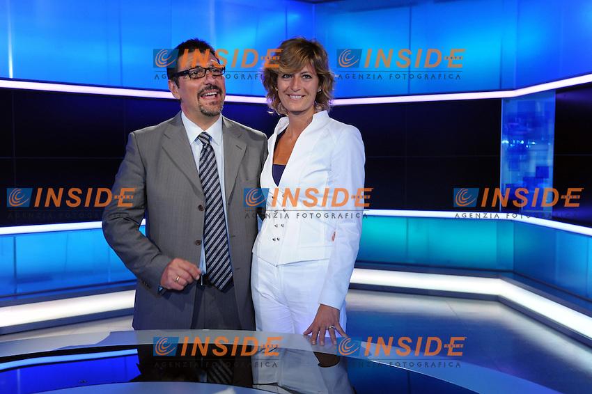 Valentina Bisti e Stefano Campagna.Roma 09/06/2010 Presentazione del nuovo tg1.Foto GB / Insidefoto