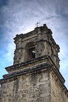 The belltower at Mission San Hose at the San Antonio Missions National Historic Park.